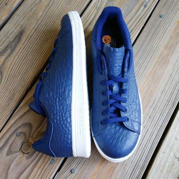 Adidas Stan Smith Blue Croc Leather NWOB